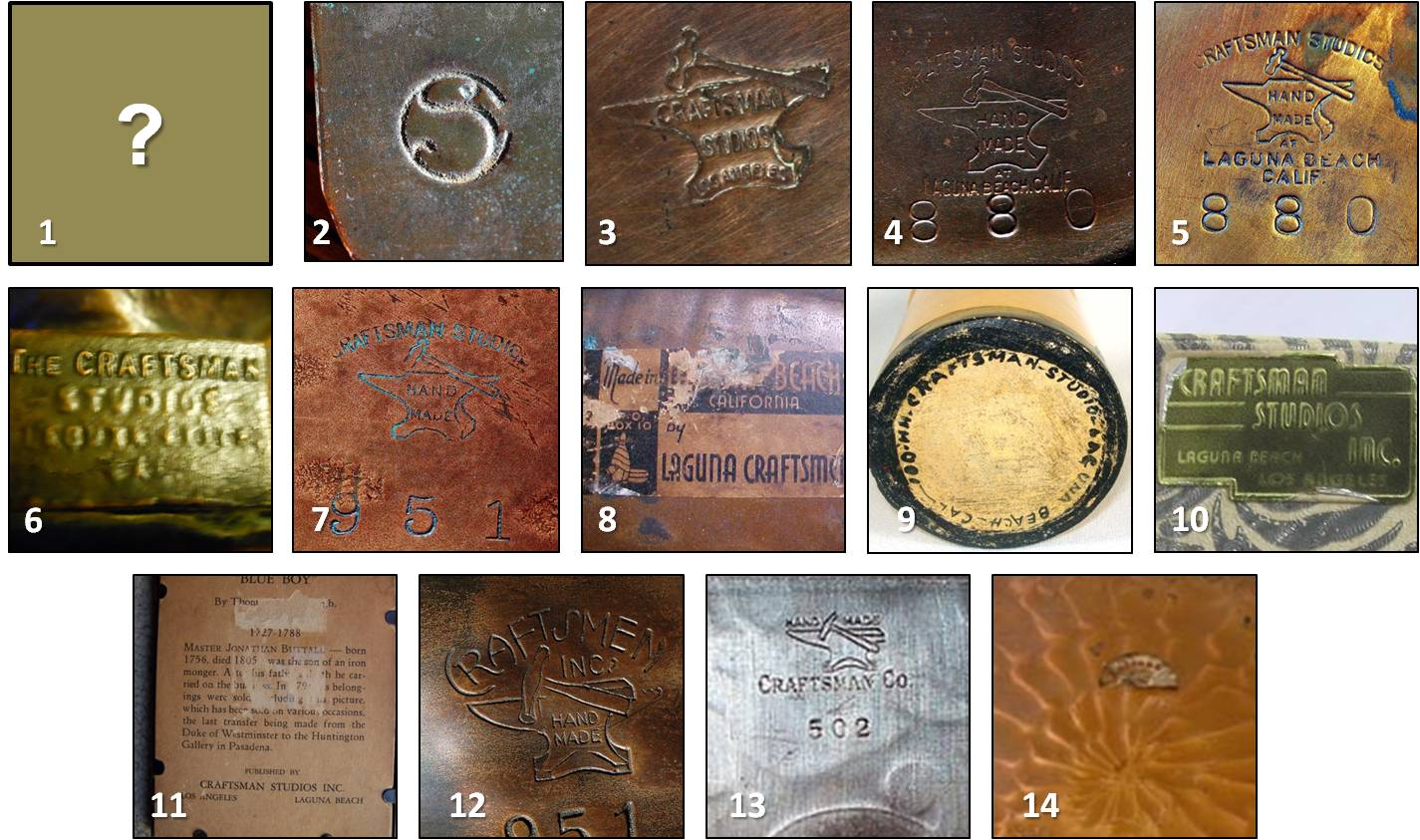 Arts And Crafts Copper Makers Marks