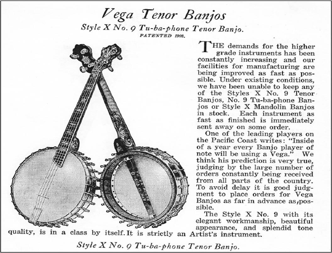 Tubaphone Tenor Versions | Vega Style M Tenor Banjo